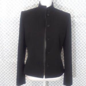 Ann Taylor black funnel neck blazer size 4